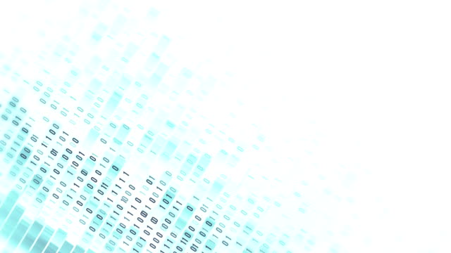 4k binary code loop (white): data transfer, ai, cloud computing - code talker stock videos & royalty-free footage