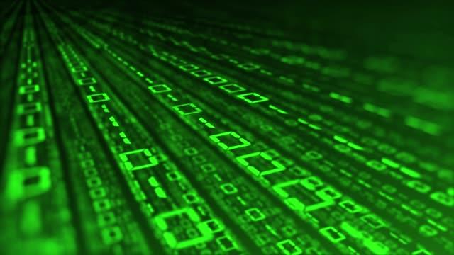 4k バイナリコードループ - digital animation点の映像素材/bロール