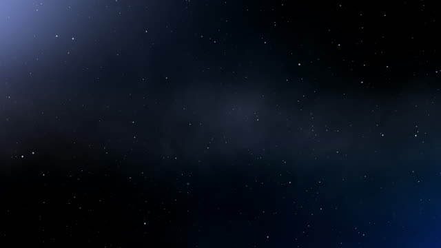 4k blue abstract space background - a forma di stella video stock e b–roll