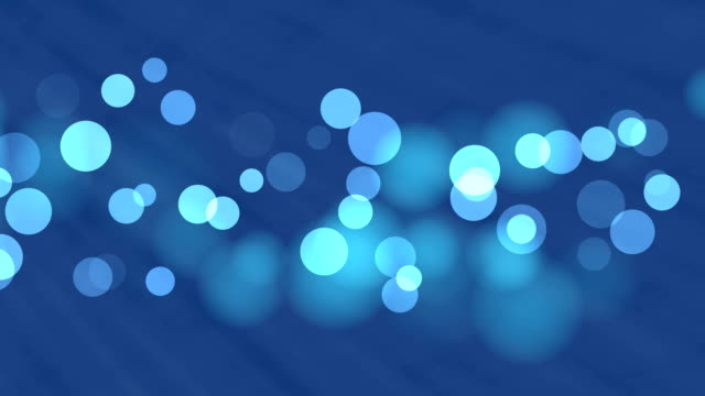 4k blue bokeh abstract light background - glowworm stock videos & royalty-free footage