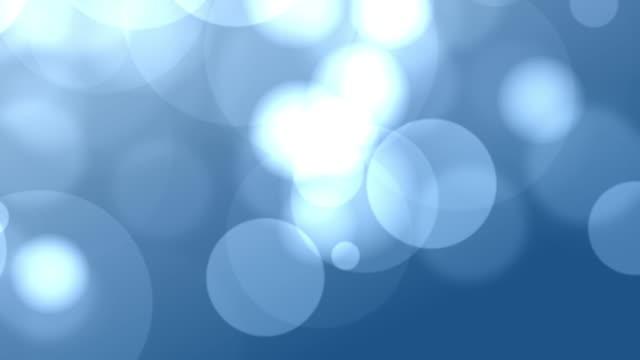 4k Blue Bokeh Animation Background Seamless Loop