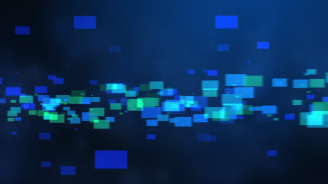 4k blue green abstract tech background - block shape stock videos & royalty-free footage