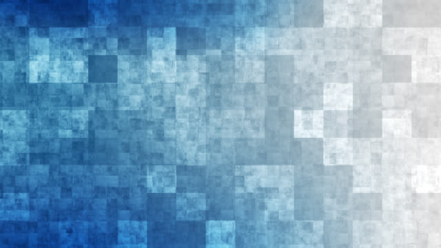 4k blue grid mosaic background - block shape stock videos & royalty-free footage