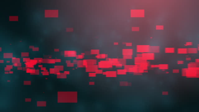 4k blue red abstract tech background - block shape stock videos & royalty-free footage