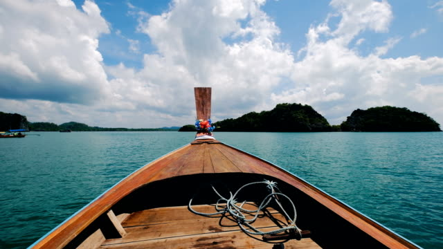 4 k båttur i tropiska lagunen på Railay, Krabi, Thailand