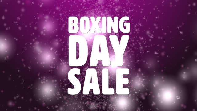 4k boxing day sale pink background - reduction stock videos and b-roll footage