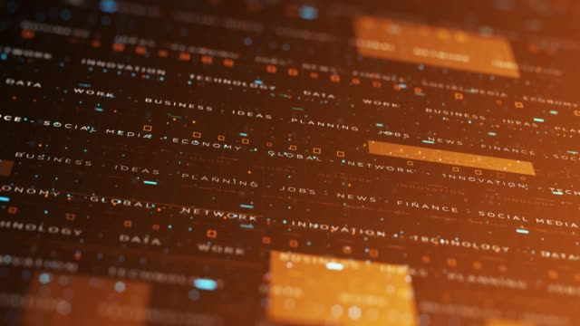 vídeos y material grabado en eventos de stock de 4k business technology background - fondo naranja