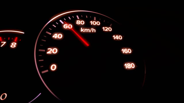 4k car dashboard animation - speedometer stock videos & royalty-free footage