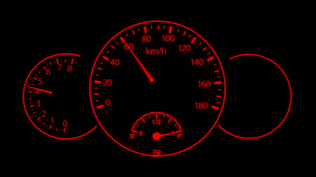 4k car dashboard night vision animation - speedometer stock videos & royalty-free footage