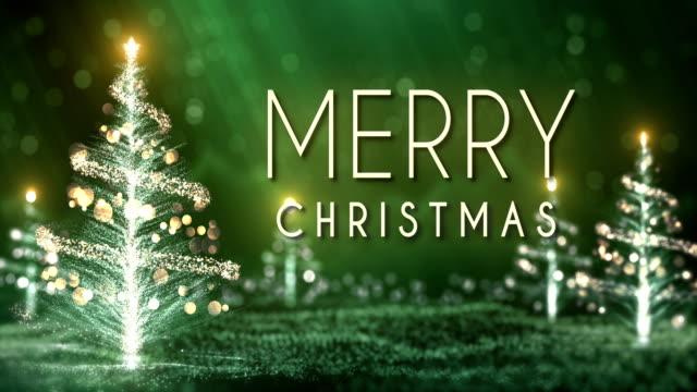 4 k kerst bomen achtergrond met tekst (groen) - lus
