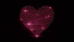 4k Circuit Board Heart (Red) - Loop