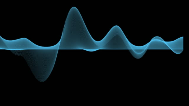 4k clip of abstract blue graph wave line particle over dark background, digital technology and innovation concept - curve stock videos & royalty-free footage