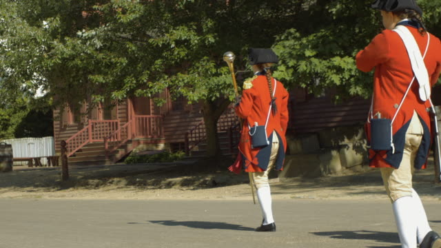 4k colonial marching band - gettysburg stock videos & royalty-free footage