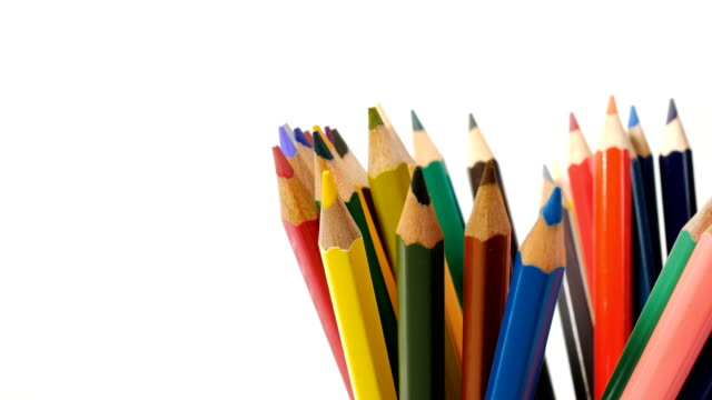 4k colored pencils - colored pencil stock videos and b-roll footage