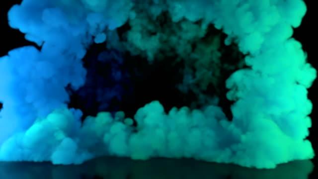 4k bunten rauch für produkt und text titel background_ stockvideo - malfarbe stock-videos und b-roll-filmmaterial