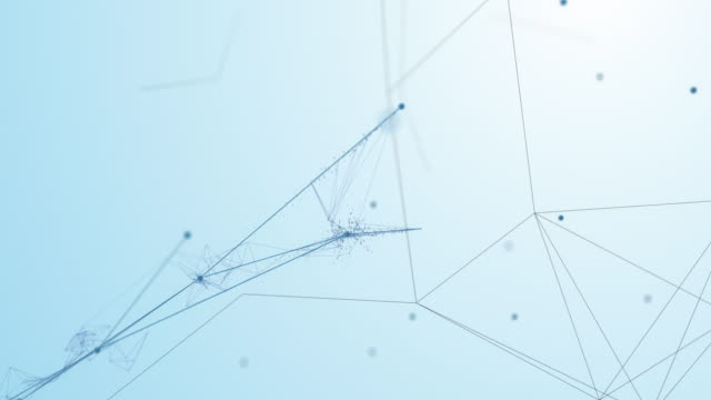 4k complex connections emerging and forming a network (white) - loopable - künstliche intelligenz, blockchain, big data, netzwerksicherheit - computer graphic stock-videos und b-roll-filmmaterial