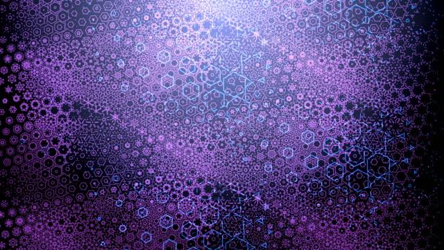 青い紫色抽象アニメーション ループするバック グラウンド イベントのため 4 k コンサート - ダンスミュージック点の映像素材/bロール