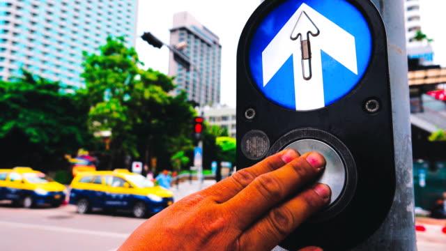 4k: crosswalk light and sign - walk don't walk signal stock videos and b-roll footage