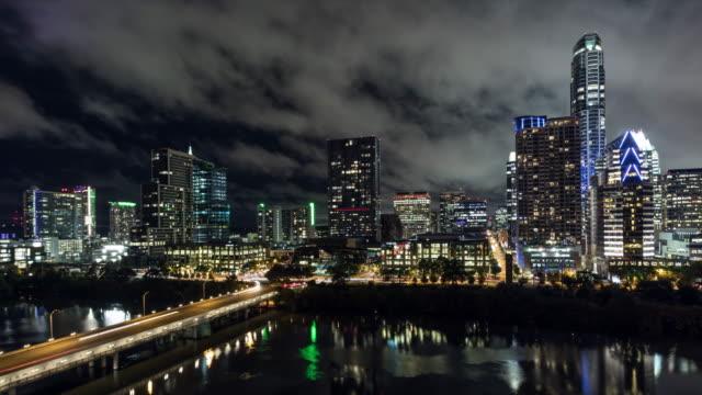 uhd 4k day to night time lapse austin, texas usa - austin texas stock videos & royalty-free footage
