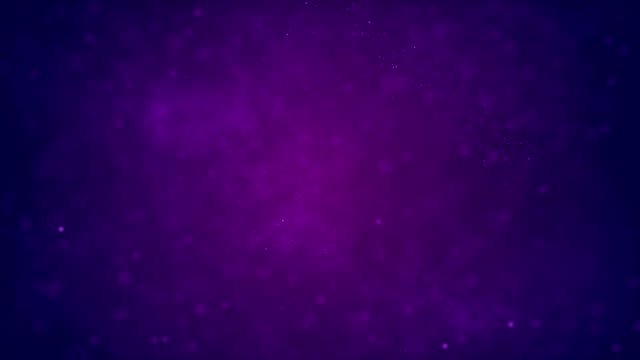 vídeos de stock e filmes b-roll de 4k defocused abstract particles background (purple) - loop stock video - purple