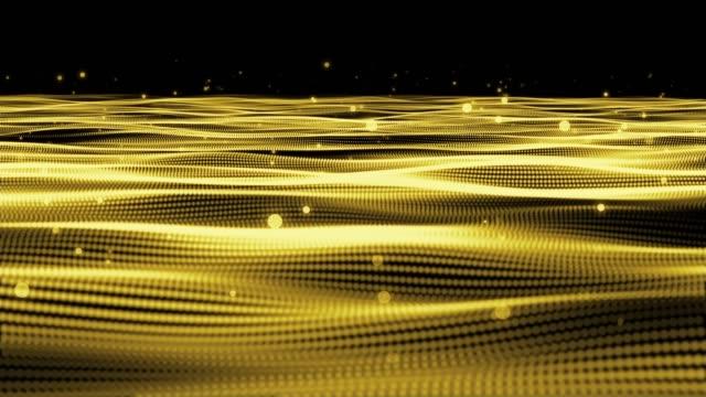 4k unscharf gestellt Goldpartikel.
