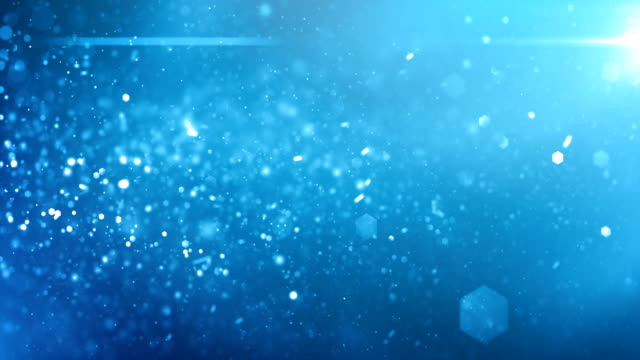 4k defocused particles background (light blue) - loop - softness stock videos & royalty-free footage