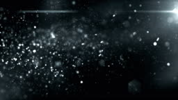 4k Defocused Particles Background (Black / Dark Silver) - Loop