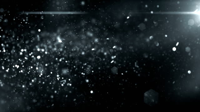 4k defocused particles background (black / dark silver) - loop - immagine in movimento in loop video stock e b–roll