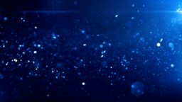 4k Defocused Particles Background (Dark Blue) - Loop