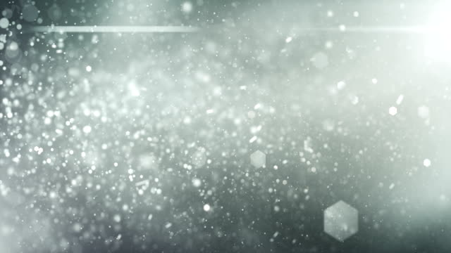 4k Defocused Particles Background (Silver) - Loop