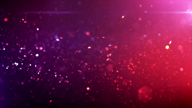 4k Defocused Particles Background (Pink / Purple) - Loop