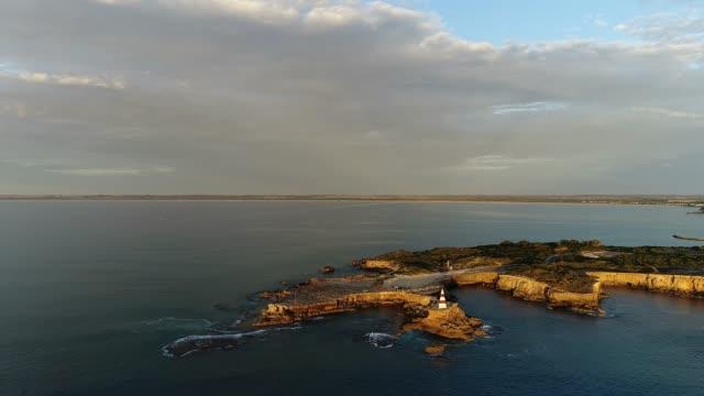 4k drone aerials landscape and nature at sunset - south australia bildbanksvideor och videomaterial från bakom kulisserna
