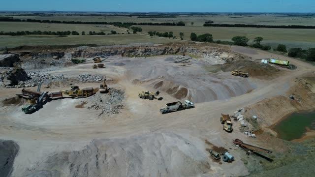 4k drone gravel quarry