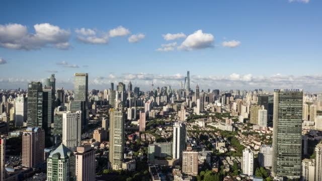 4k drone time-lapse footage : shanghai skyline at typhoon season - lujiazui stock videos & royalty-free footage