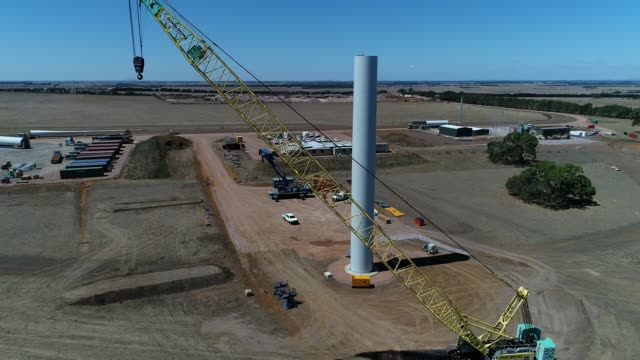 4k drone wind farm - alternative energy stock videos & royalty-free footage