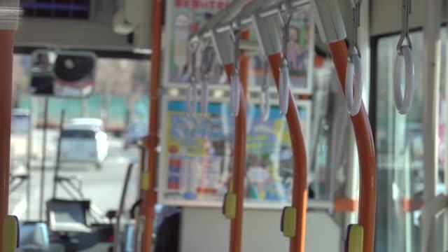 4k: leere bus bewegen - fahrkarte oder eintrittskarte stock-videos und b-roll-filmmaterial