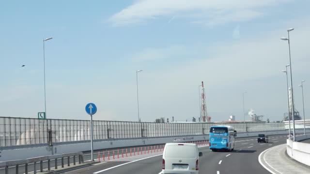 4k: expressway traffic car in japan. - japan videos stock videos and b-roll footage
