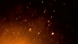 4k Fire Sparks - Loop (Vertical Movement)