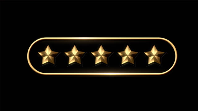 4k five stars rating animation - number 5 stock videos & royalty-free footage