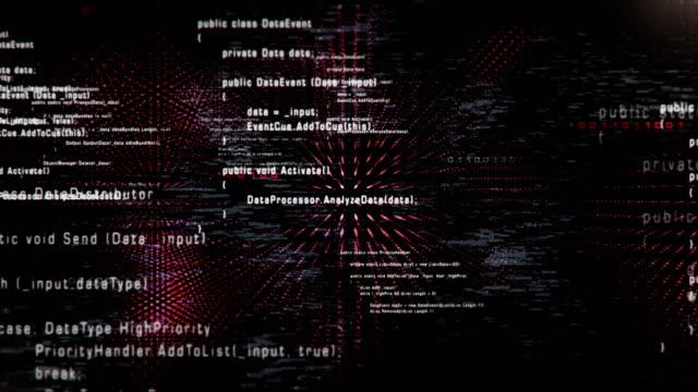 4k fliegen durch Programmcode (schwarz) - Loop