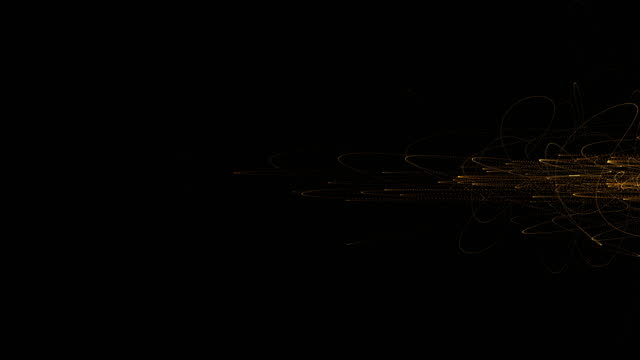 vidéos et rushes de 4k footage of abstract wave particle and lines over dark background, digital technology and innovation concept - mixage du son