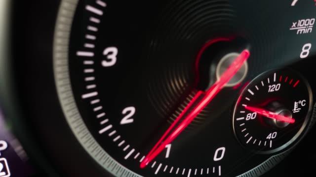 4k footage of car Speed meter