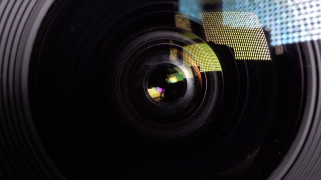 4k footage of Closed up Lens shuttering