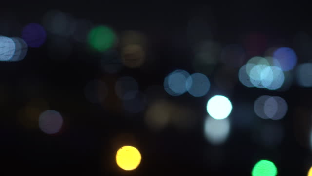 4k footage scene of blurred defocused light from airplane take off from the airport at night time, travel and transportation concept - air vehicle stock videos & royalty-free footage