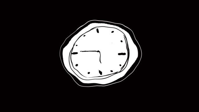 vídeos y material grabado en eventos de stock de 4 marco de k por el vídeo de animación de marco de un reloj blando, concepto surrealista, estilo dalí - surrealismo