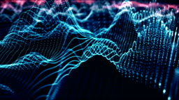 4k Futuristic Network (Blue): Artificial Intelligence, Global Communication