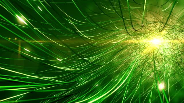 4 k futuristische Netzwerk (grün): künstliche Intelligenz, globale Kommunikation, Alien-Technologie