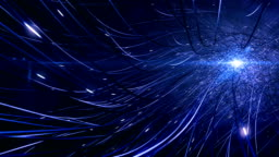 4k Futuristic Network (Blue): Artificial Intelligence, Global Communication, Alien Technology