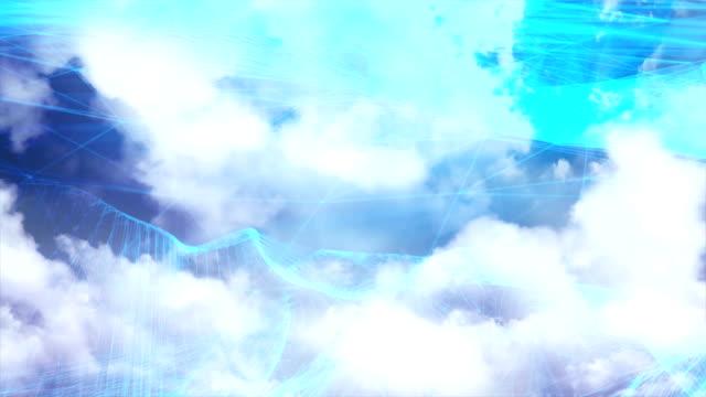 4k futuristic network: cloud computing, global communication - neural axon stock videos & royalty-free footage