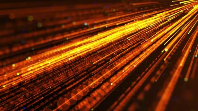 vídeos y material grabado en eventos de stock de 4k fondo tecnológico de la red futurista - fondo naranja
